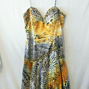Tiffany Designs Womens size 16 Yellow Dress Prom